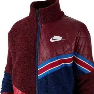 Womens Nike Full-Zip Sherpa Track Jacket